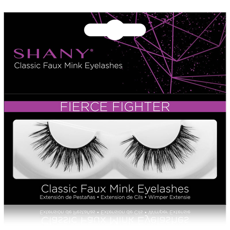 SHANY Classic Faux Mink Eyelashes - Durable Single Pair 3D Reusable Fluffy and Soft Strip Lash with Medium Volume  - FIERCE FIGHTER - SHOP FIERCE FIGHTER - BROWS & LASHES - ITEM# SH-LASH112