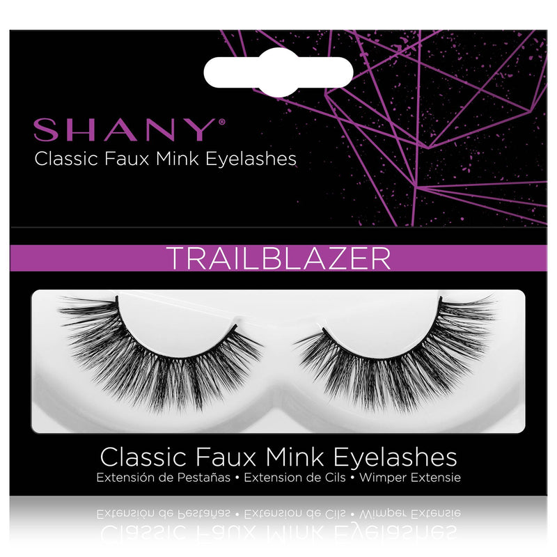 SHANY Classic Faux Mink Eyelashes - Durable Single Pair 3D Reusable Fluffy and Soft Strip Lash with Medium Volume  - TRAILBLAZER - SHOP TRAILBLAZER - BROWS & LASHES - ITEM# SH-LASH113