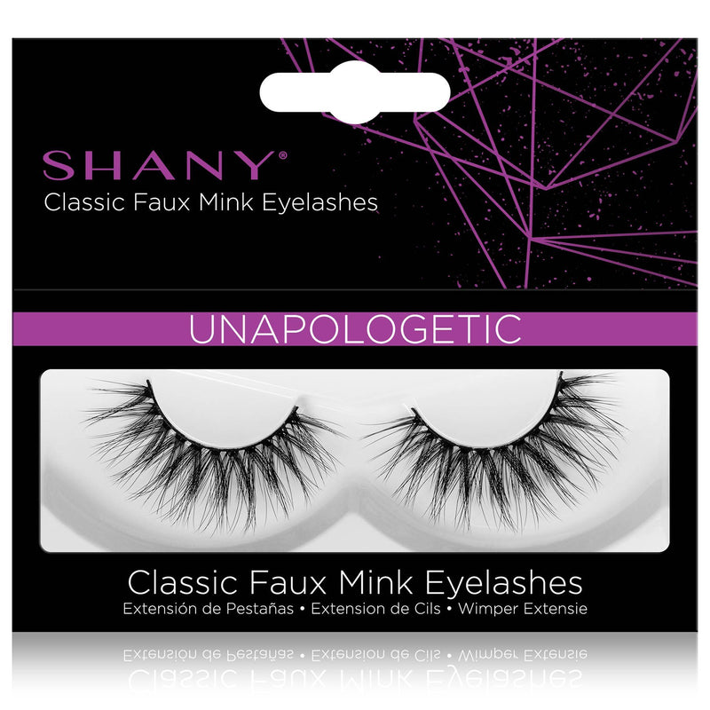 SHANY Classic Faux Mink Eyelashes - Durable Single Pair 3D Reusable Fluffy and Soft Strip Lash with Medium Volume  - UNAPOLOGETIC - SHOP UNAPOLOGETIC - BROWS & LASHES - ITEM# SH-LASH114