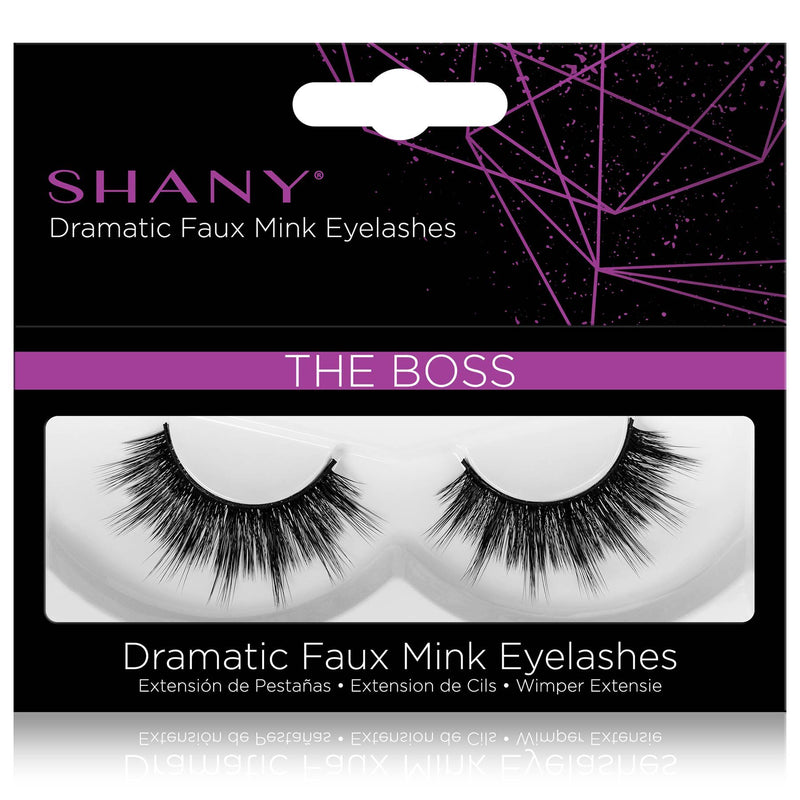 SHANY Classic Faux Mink Eyelashes - Durable Single Pair 3D Reusable Fluffy and Soft Strip Lash with Medium Volume  - THE BOSS - SHOP THE BOSS - BROWS & LASHES - ITEM# SH-LASH115