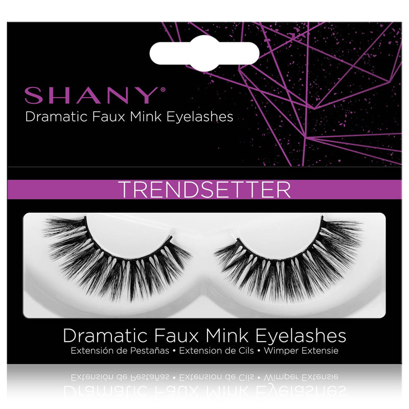 SHANY Classic Faux Mink Eyelashes - Durable Single Pair 3D Reusable Fluffy and Soft Strip Lash with Medium Volume  - TRENDSETTER - SHOP TRENDSETTER - BROWS & LASHES - ITEM# SH-LASH116