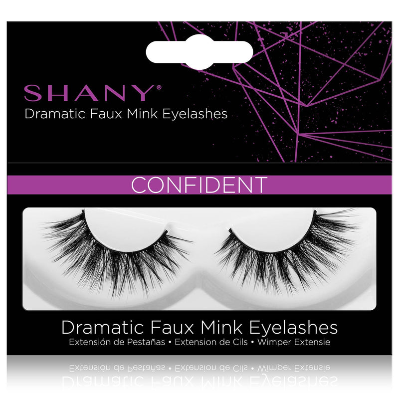 SHANY Classic Faux Mink Eyelashes - Durable Single Pair 3D Reusable Fluffy and Soft Strip Lash with Medium Volume  - CONFIDENT - SHOP CONFIDENT - BROWS & LASHES - ITEM# SH-LASH117
