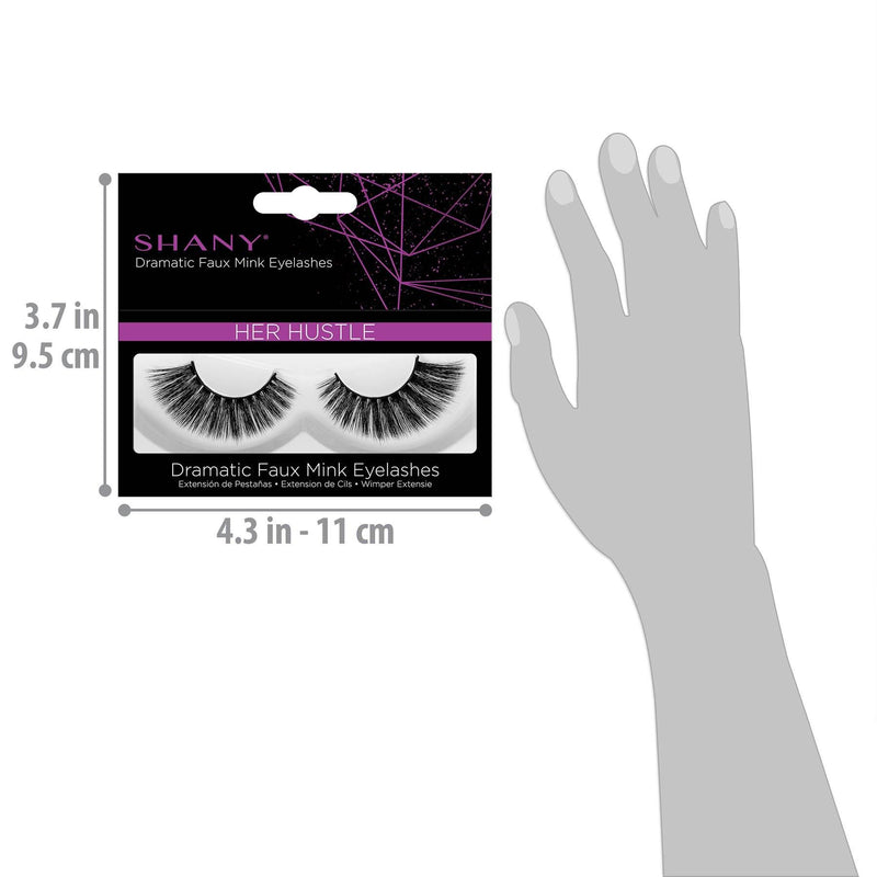 SHANY Classic Faux Mink Eyelashes - HER HUSTLE - HER HUSTLE - ITEM# SH-LASH118 - Best seller in cosmetics BROWS & LASHES category