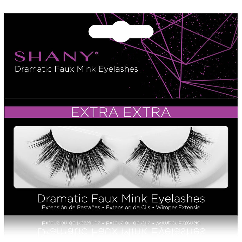 SHANY Classic Faux Mink Eyelashes - Durable Single Pair 3D Reusable Fluffy and Soft Strip Lash with Medium Volume  - EXTRA EXTRA - SHOP EXTRA EXTRA - BROWS & LASHES - ITEM# SH-LASH119