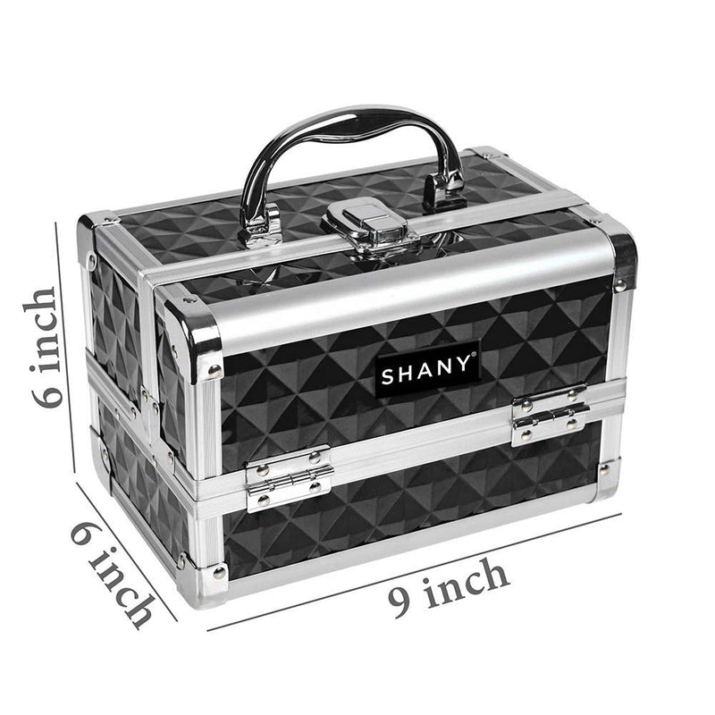 SHANY Mini Makeup Case - Black and Silver