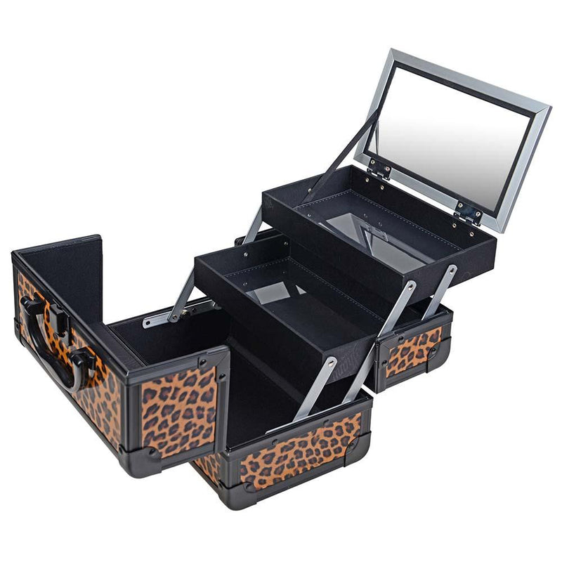 SHANY Mini Makeup Train Case - Lost Cheetah