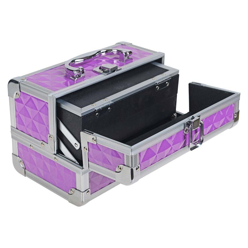 SHANY Mini Makeup Train Case With Mirror - Purple