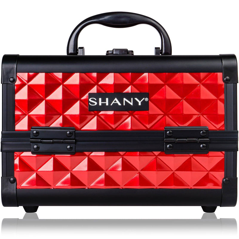 SHANY Mini Makeup Train Case With Mirror - Ruby Red - SHOP RUBY RED - MAKEUP TRAIN CASES - ITEM# SH-M1001-RD