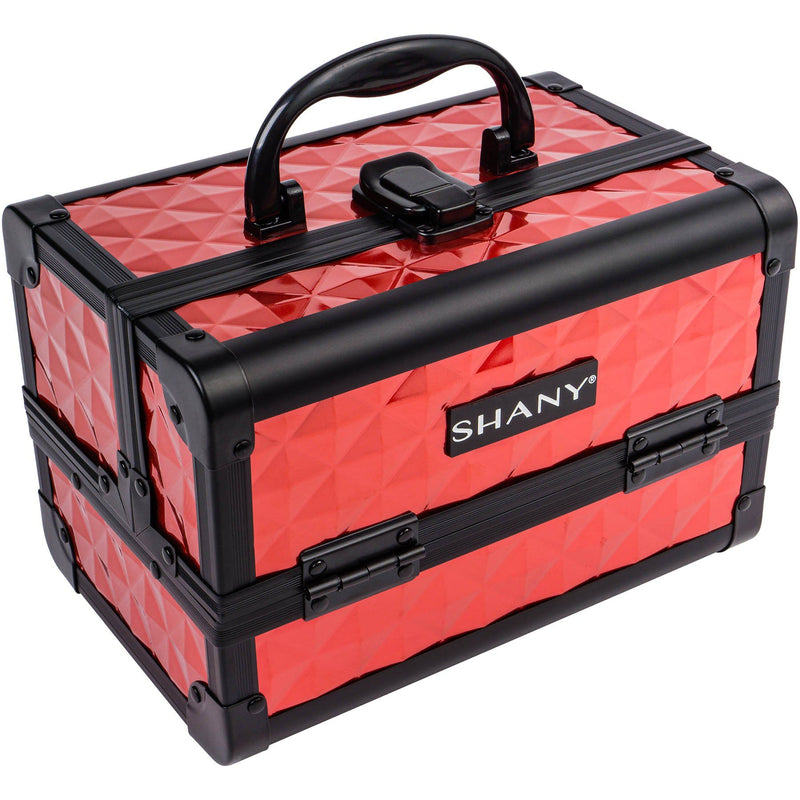 SHANY Mini Makeup Train Case- Ruby Red - RUBY RED - ITEM# SH-M1001-RD - Makeup train cases bag organizer storage women kit,Professional large mini travel rolling toiletry,Joligrace ollieroo seya soho cosmetics holder box,Salon brush artist high quality water resistant,Portable carry trolley lipstic luggage lock key - UPC# 723175178137