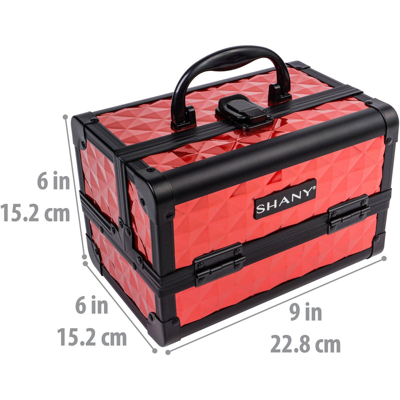 SHANY Mini Makeup Train Case- Ruby Red - RUBY RED - ITEM# SH-M1001-RD - Best seller in cosmetics MAKEUP TRAIN CASES category