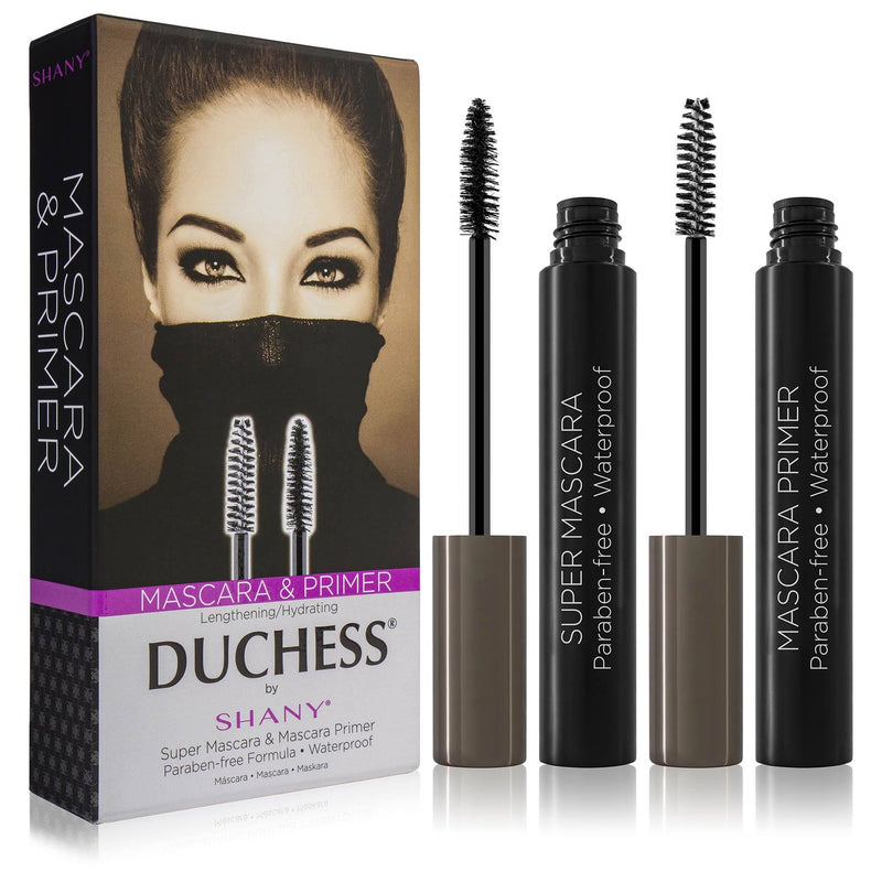 DUCHESS by SHANY 2-Piece Waterproof Mascara Set - Lengthening Super Mascara and Hydrating Mascara Primer with Paraben-Free Formula - SHOP  - BROWS & LASHES - ITEM# SH-MAS-1