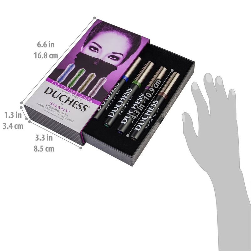 DUCHESS by SHANY 4-Piece Color Mascara Set -  - ITEM# SH-MAS-2 - Best seller in cosmetics BROWS & LASHES category
