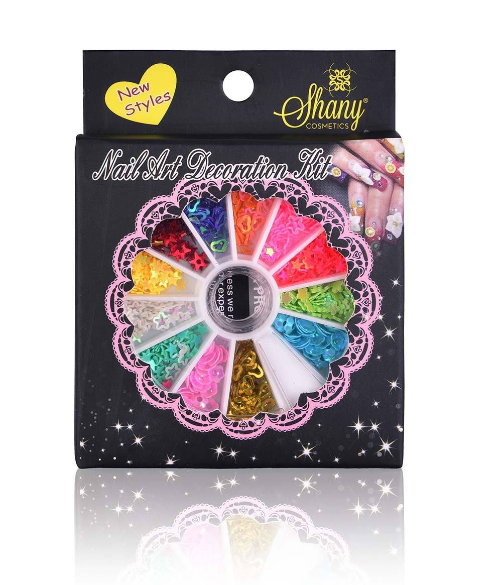 SHANY 3D DIY Neon Nail Decoration, Stars, Hearts & More - Nail Wheel - Set#2 - SHOP SET2 - NAIL ART - ITEM# SH-NAILART-SET02