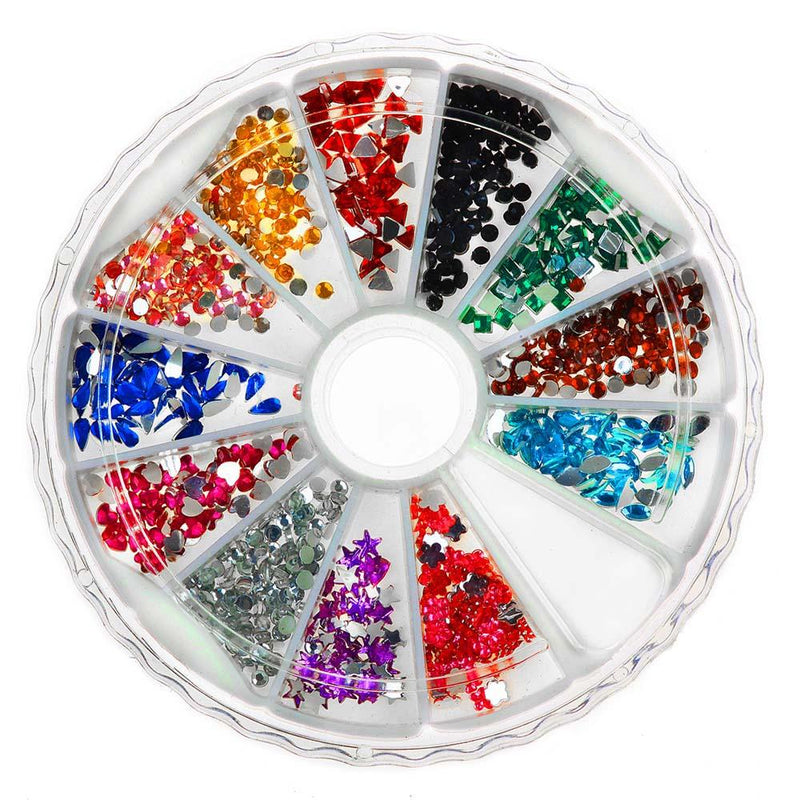 SHANY 3D Nail Rhinestones Manicure Wheel - 2500pc - Gift boxed - DIY Nail Art - SET3 - ITEM# SH-NAILART-SET03 - Sparkle, sparkle, sparkle! That's what this Shany Nail Art Set is all about. With 2500 rhinestones in a variety of colors and shapes, this set is your gateway to a standout manicure. All contained within