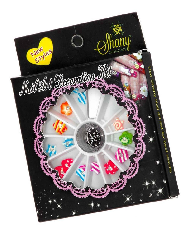 SHANY 3D DIY Large Nail Decoration Wheel - SET5 - ITEM# SH-NAILART-SET05 - Nail decoration art artificial dotting pen glitter,Style design manicure shape tips professional coat,Amope opi sticker pattern color paint polish clean,Electric luxury file spa fashion salon massager,Scissors brush smooth women cream clipper gel kits - UPC# 030955521602