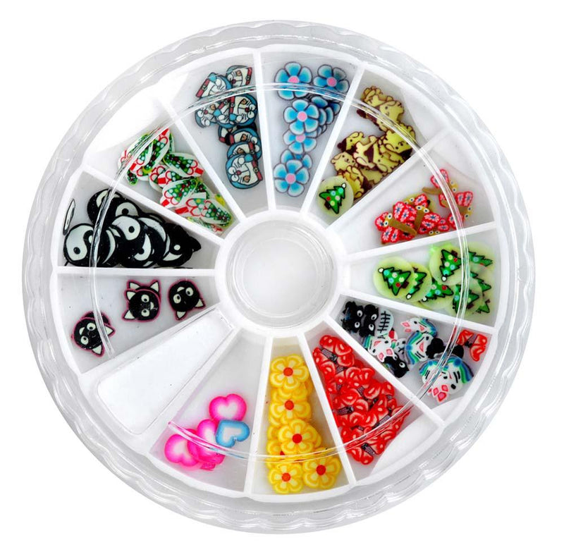 SHANY 3D DIY Large Nail Decoration Assorted 3D Tiny Stones & More, Nail Wheel - SET7 - ITEM# SH-NAILART-SET07 - Get artistic with your nails with Shany Cosmetic Nail Art Sets! This set features a plastic container perfect for keeping everything together and in its place. The top of the wheel slides in a circle to open
