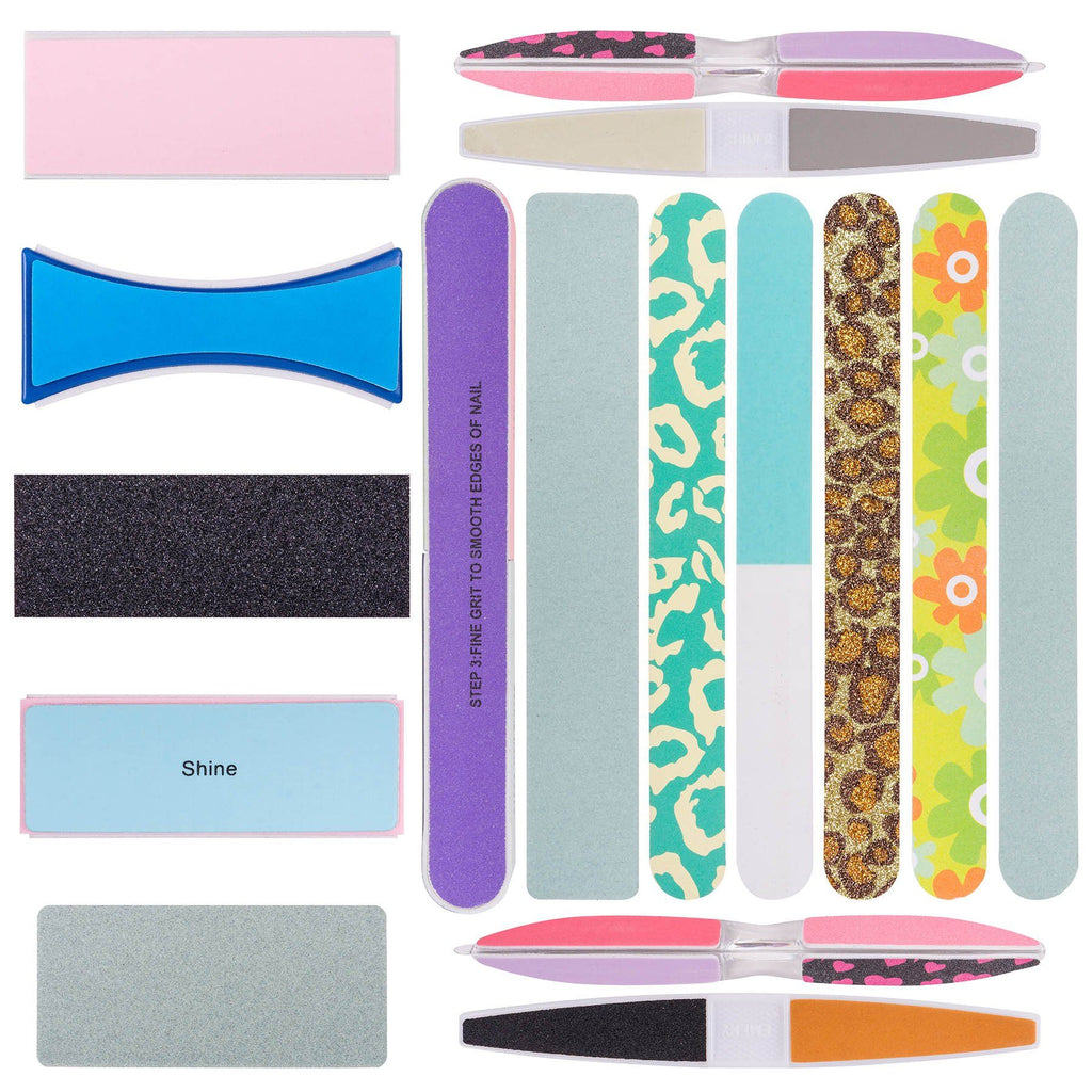 SHANY Assorted Nail Buffer Files Blocks Set - 15pc -  - ITEM# SH-NF-SET01 - Nail files buffers acrylic polisher quality shape,Christmas birthday gift professional salons easy,Amope tweezerman zoliopi revlon sally han klh tool,Quick side manicure sturdy durable calas remover,Best cheap stencils women fashionable regular kit - UPC# 030955522036