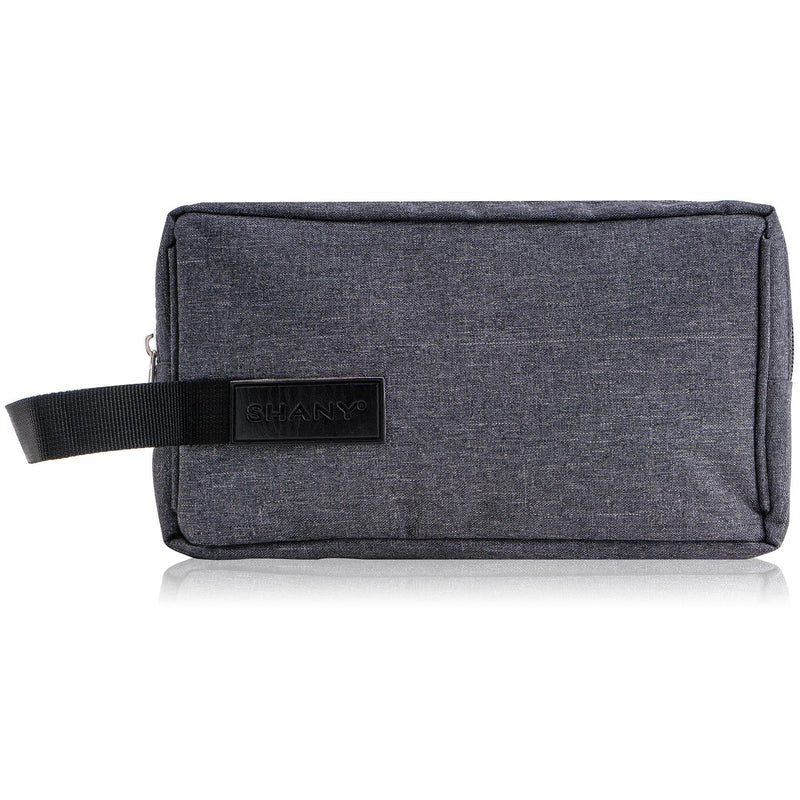 SHANY Travel Toiletry and Makeup Bag – Zippered Grooming Organizer with Two Nylon-Lined Openings and Carrying Handle – GRAY - SHOP  - TRAVEL BAGS - ITEM# SH-NT1002-GY