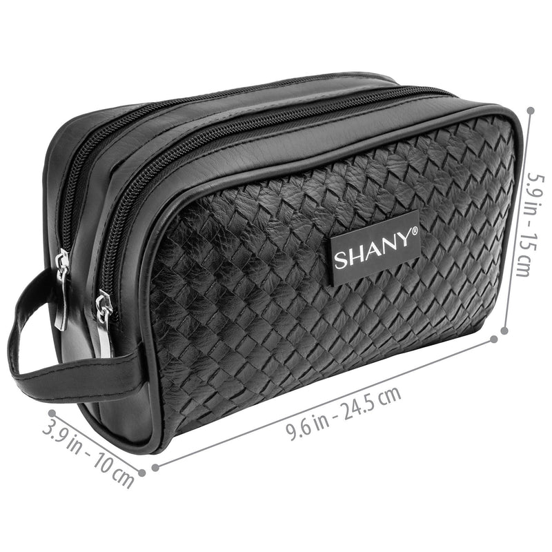 SHANY Woven Toiletry Handbag - Black -  - ITEM# SH-NT1003-BK - Best seller in cosmetics TRAVEL BAGS category