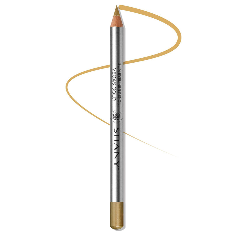 SHANY Slim Liner Eye Pencil  - VEGAS GOLD - SHOP VEGAS GOLD - EYELINER - ITEM# SH-P008-12