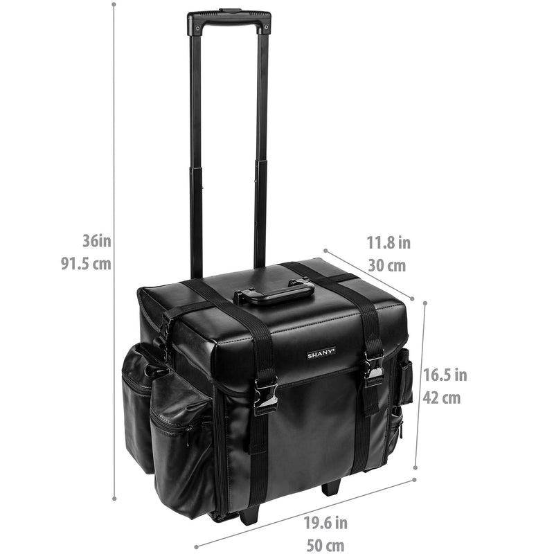 SHANY Makeup Artist Soft Rolling Case - HEADTURNER - HEAD TURNER - ITEM# SH-P40-BK - Best seller in cosmetics ROLLING MAKEUP CASES category