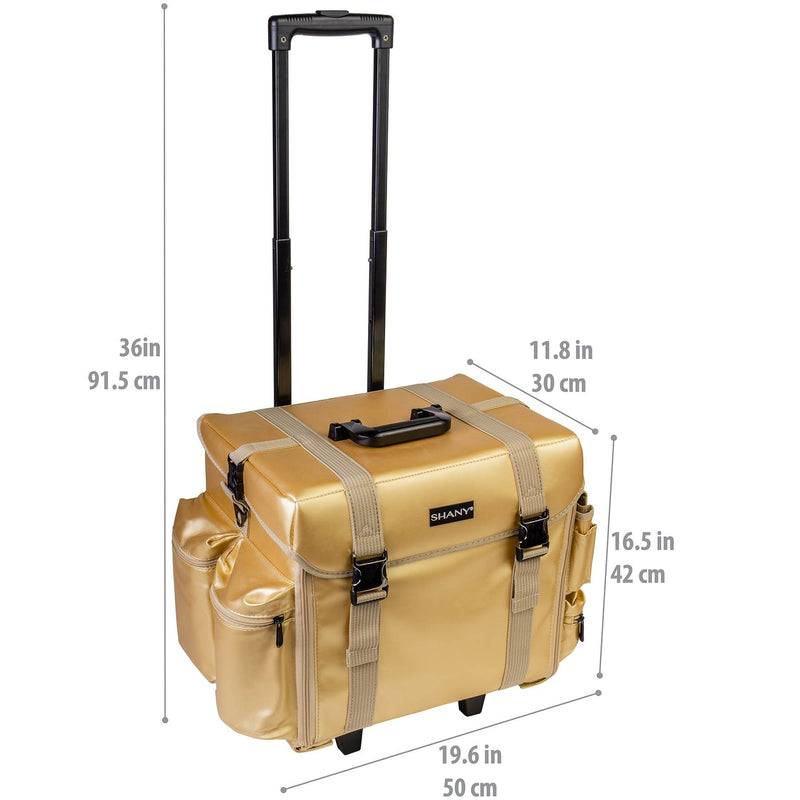 SHANY Makeup Artist Case - Gold Medal - GOLD MEDAL - ITEM# SH-P40-GL - Best seller in cosmetics ROLLING MAKEUP CASES category