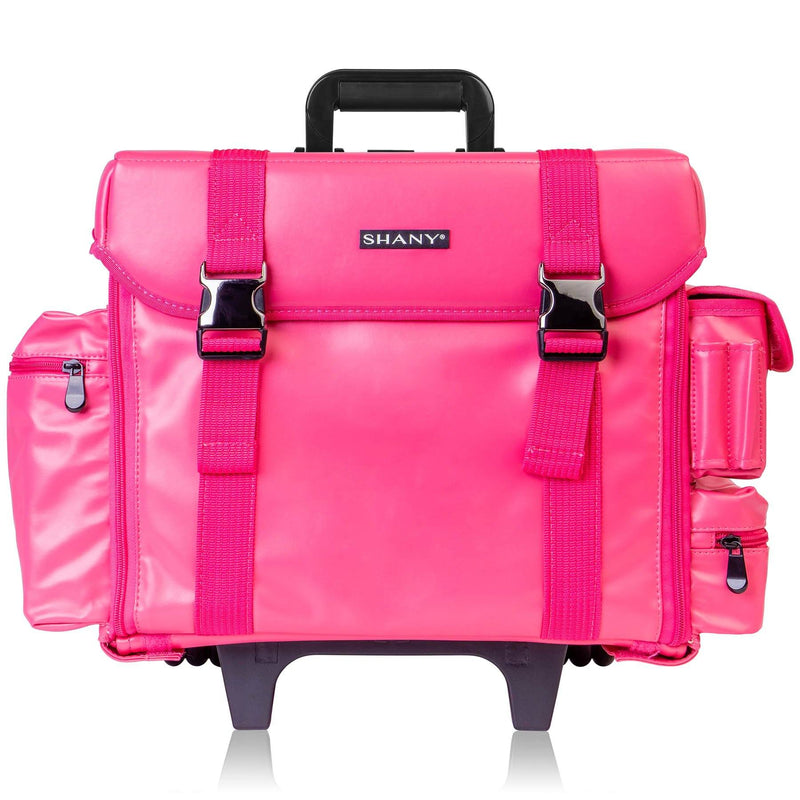SHANY Makeup Artist Soft Rolling - Sweetheart - SWEETHEART - ITEM# SH-P40-PK - Rolling cosmetics cases Makeup Case with wheels,Cosmetics trolley makeup artist case storage bag,Seya just case aluminum makeup case display set,professional makeup organizer gift idea Makeup bag,portable makeup carry on cosmetics organizer light - UPC# 723175178434