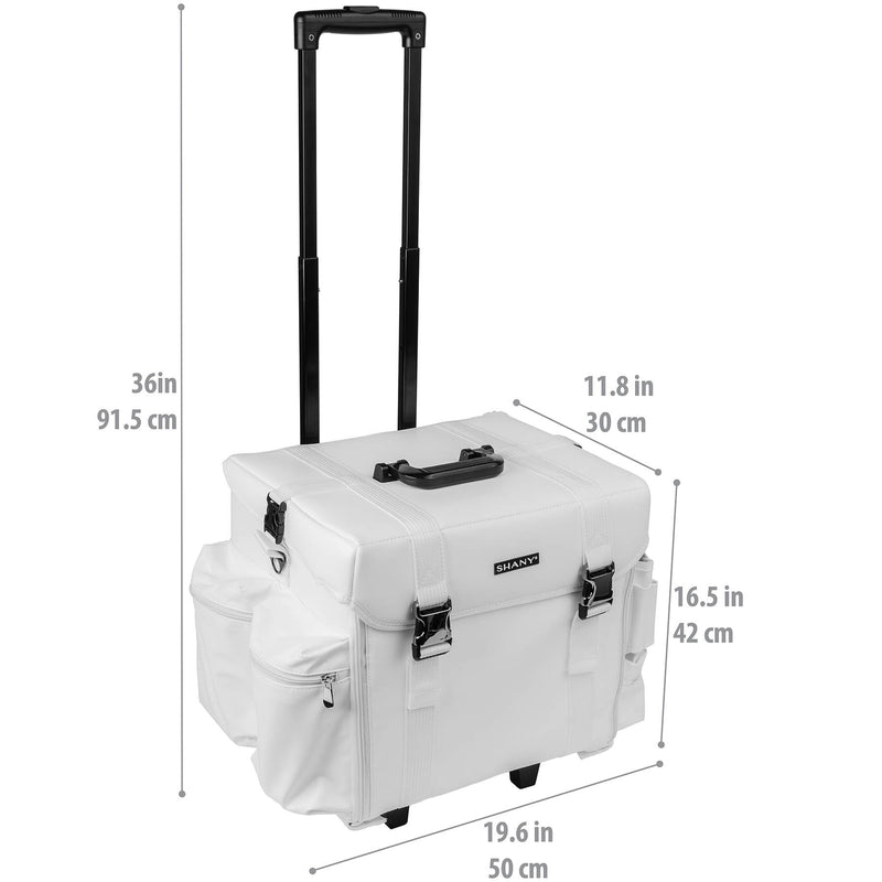 SHANY Makeup Artist Soft Trolley Case- Frozen Yogu - FROZEN YOGURT - ITEM# SH-P40-WH - Best seller in cosmetics ROLLING MAKEUP CASES category