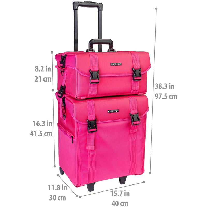 SHANY Soft MUA Rolling Case - Summer Orchid - SUMMER ORCHID - ITEM# SH-P50-PK - Best seller in cosmetics ROLLING MAKEUP CASES category