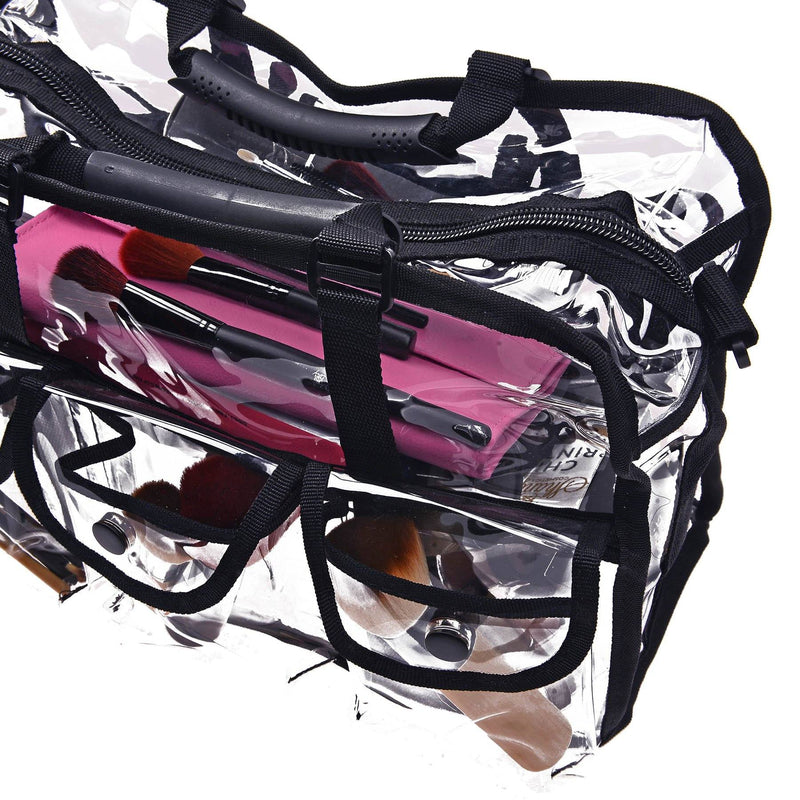 SHANY Clear Makeup Bag - BLACK - ITEM# SH-PC01BK - Best seller in cosmetics TRAVEL BAGS category