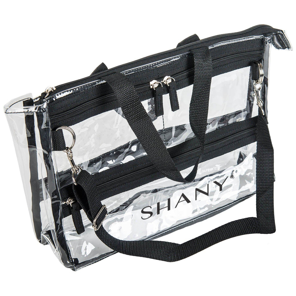 SHANY The Game Changer Bag -  - ITEM# SH-PC08 - Clear travel makeup cosmetic bags carry Toiletry,PVC Cosmetic tote bag Organizer stadium clear bag,travel packing transparent space saver bags gift,Travel Carry On Airport Airline Compliant Bag,TSA approved Toiletries Cosmetic Pouch Makeup Bags - UPC# 616450439507