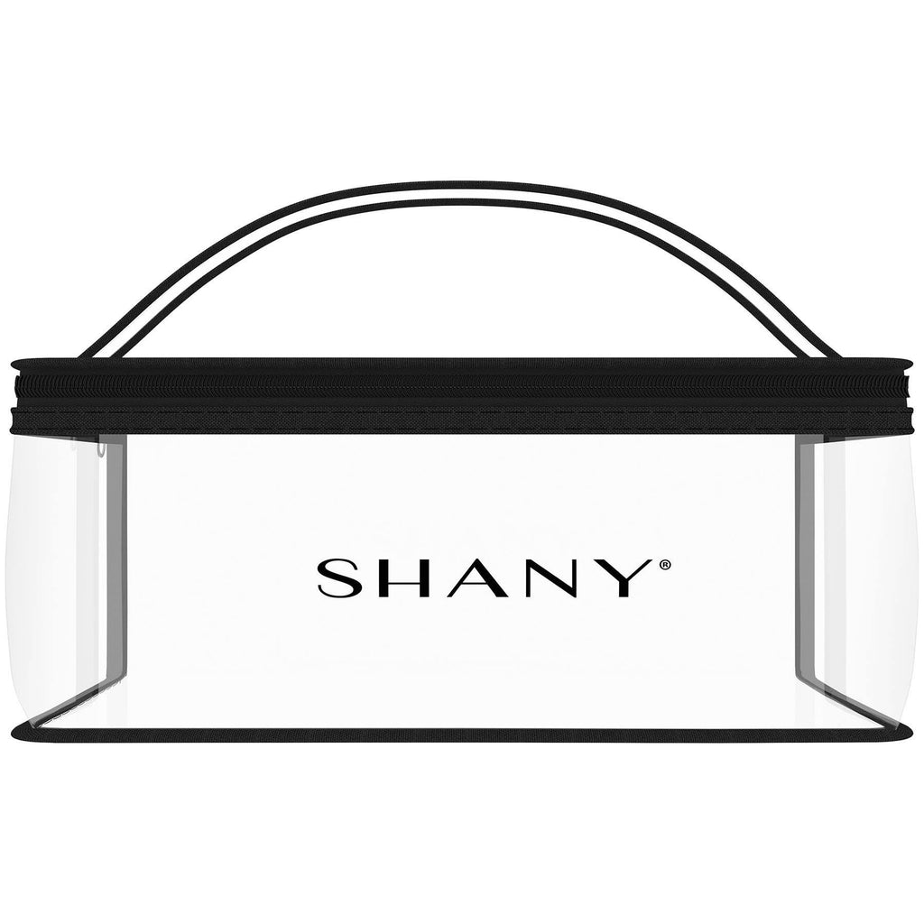 SHANY Road Trip Travel Bag - Water Proof Storage -  - ITEM# SH-PC09 - Clear travel makeup cosmetic bags carry Toiletry,PVC Cosmetic tote bag Organizer stadium clear bag,travel packing transparent space saver bags gift,Travel Carry On Airport Airline Compliant Bag,TSA approved Toiletries Cosmetic Pouch Makeup Bags - UPC# 616450439514