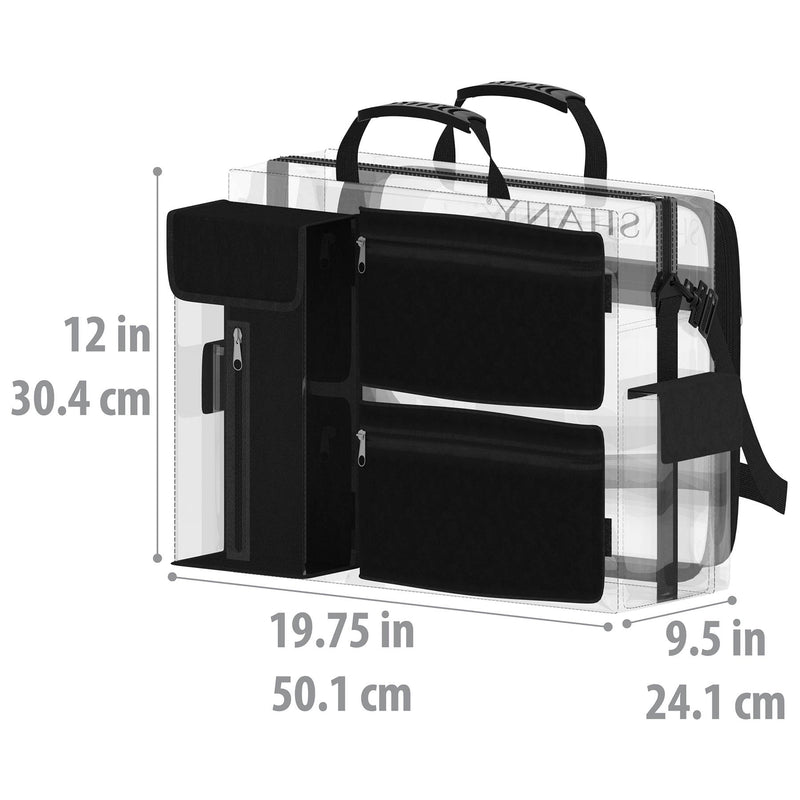 SHANY Clear Traveling Makeup Artist Bag -  - ITEM# SH-PC13-BK - Best seller in cosmetics TRAVEL BAGS category