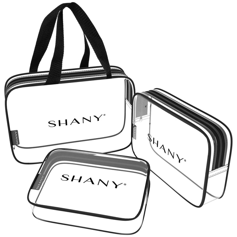 SHANY Clear Toiletry and Makeup Bag Set - 3PC