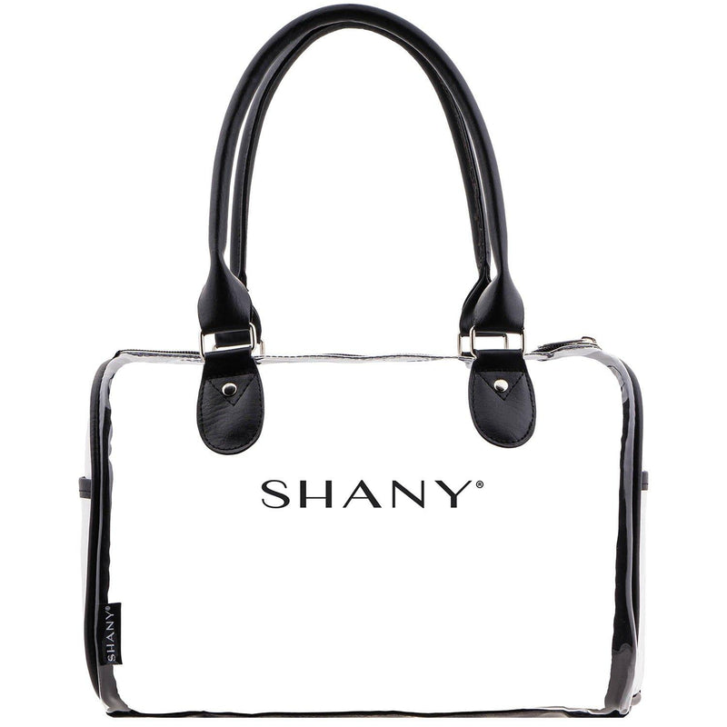 SHANY Clear Waterproof Carryall Handbag with Detachable Cosmetics Bag -  - ITEM# SH-PC25-BK - From SHANY's new travel bag line, the Clear Waterproof Carryall Handbag is the ideal traveling accessory. Made with a clear PVC and black vegan leather trim and handles, this see-thru carry on is designed for practical us