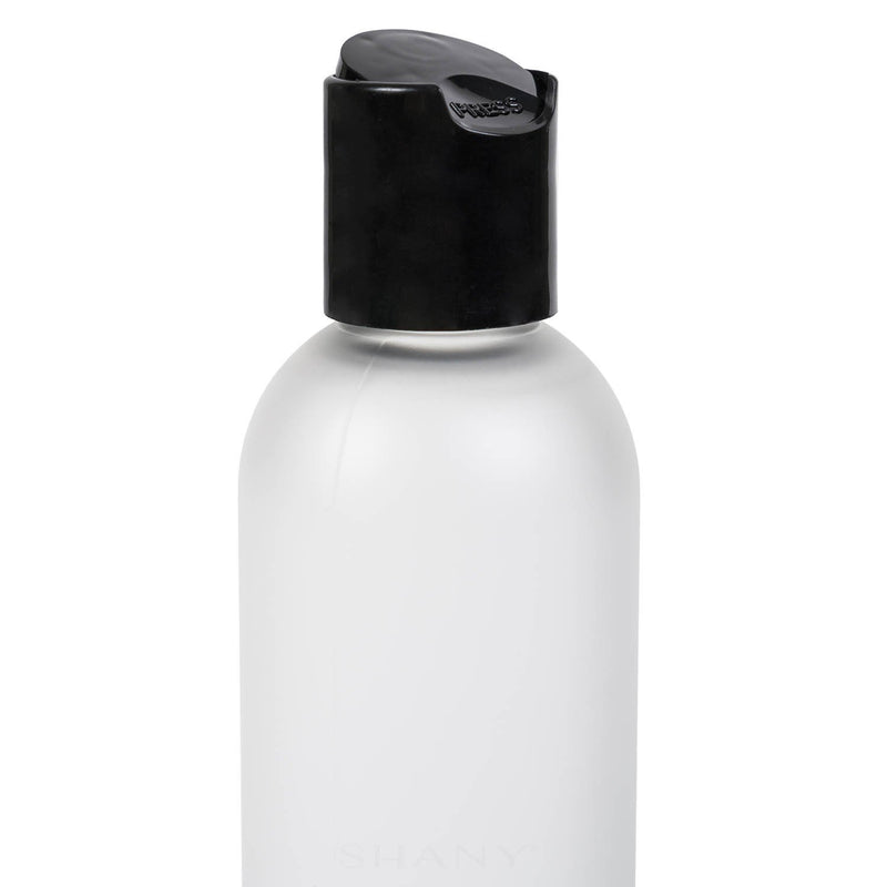 SHANY Frosted Travel-ready Bottle 4-ounce - 4 OZ - ITEM# SH-PCG4OZ - Refillable cosmetic containers empty clear spray,Travel size bottle hair beauty leak proof perfume,Empty clear spray refillable travel size bottles,Lotion cream squeezable conditioner portable set,Liquid mini softsoap makeup oil small smart jar - UPC# 616450437541