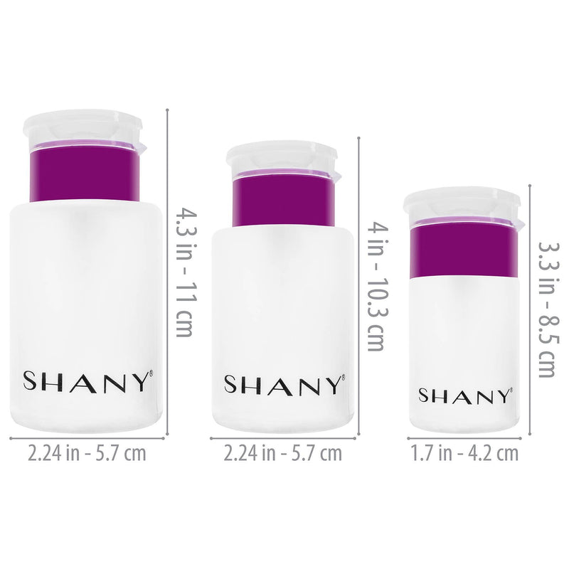SHANY Push-Top Liquid Dispenser Set - 3 PC - VARIETY - ITEM# SH-PLLT-SET - Best seller in cosmetics CONTAINERS category