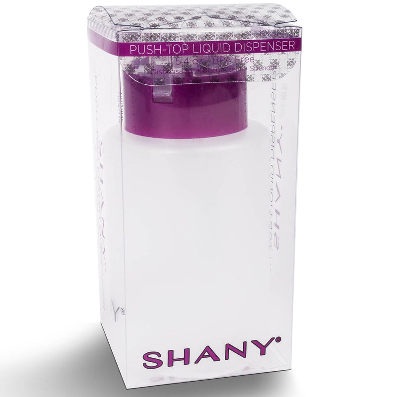 SHANY Genie of a Bottle Push-Top Liquid Dispenser - 1PC - ITEM# SH-PLLT5-WH - Refillable cosmetic containers empty clear spray,Travel size bottle hair beauty leak proof perfume,Empty clear spray refillable travel size bottles,Lotion cream squeezable conditioner portable set,Liquid mini softsoap makeup oil small smart jar - UPC# 700645942276