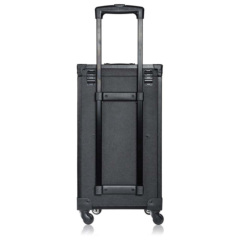 SHANY REBEL ALPHA Series Case - Knight - BLACK - ITEM# SH-REBEL-ALPHA-BK - Best seller in cosmetics ROLLING MAKEUP CASES category
