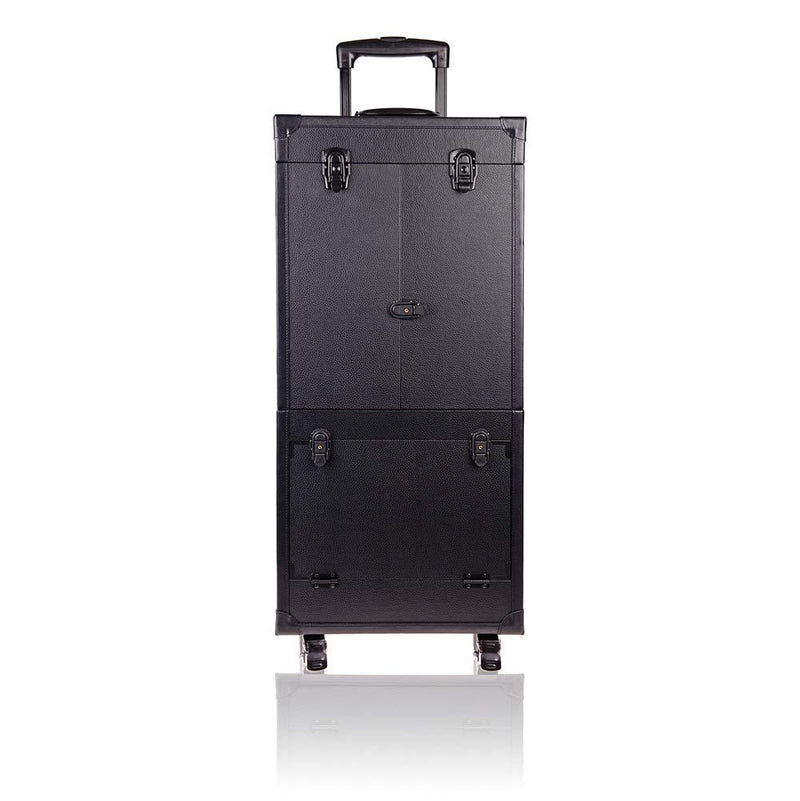 SHANY REBEL Pro Makeup Artist Multifunction lighted Cosmetics Rolling Case Black - BLACK - ITEM# SH-REBEL-BETA-BK - Meet your new best friend! The SHANY Rebel Beta Makeup Cases is great for makeup storage and doubles as a portable makeup studio. The top tier is secured with two dual locks and upon opening, it reveals