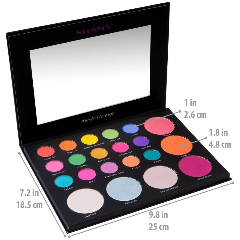 SHANY Revival Remix Palette - Eye & Cheek Colors - REMIX - ITEM# SH-REVIVAL-B - Best seller in cosmetics MAKEUP SETS category