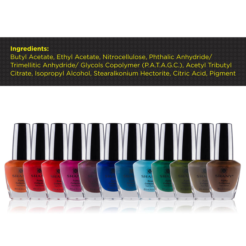 SHANY Nail Polish Set - The Funky Collection - FUNKY - ITEM# SH-SHNN-2 - Best seller in cosmetics NAIL POLISH category