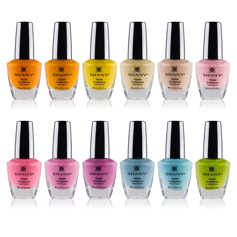 SHANY Cosmetics Nail Polish Set - 12 Spring Inspired Shades in Gorgeous Semi Glossy and Shimmery Finishes - Pastel Collection - SHOP PASTEL - NAIL POLISH - ITEM# SH-SHNN-3