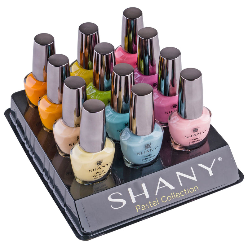 The SHANY Pastel Collection Nail Polish Set - 12 Gorgeous, Spring Inspired Shades - PASTEL - ITEM# SH-SHNN-3 - New beginnings, blooming flowers, and soft colors are what springtime is all about. The SHANY Pastel Collection encompasses all of this with its 12 beautifully dainty shades of nail polish color. The rejuvena