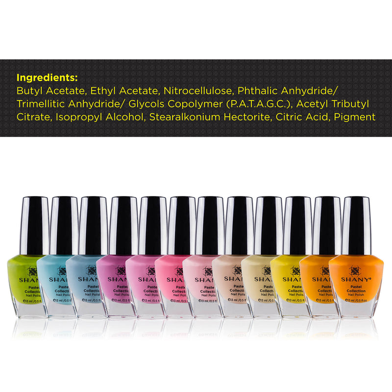 SHANY Nail Polish Set - The Pastel Collection - PASTEL - ITEM# SH-SHNN-3 - Best seller in cosmetics NAIL POLISH category