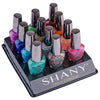 The SHANY Glitter Collection Nail Polish Set - 12 Gorgeous, Twinkling Shades - GLITTER - ITEM# SH-SHNN-4 - Sparkle meets shine with the vibrant colors of The SHANY Glitter Collection. This glitzy nail polish set includes 12 twinkling shades that are every shade as fabulous as you are. The spirited colors include royal