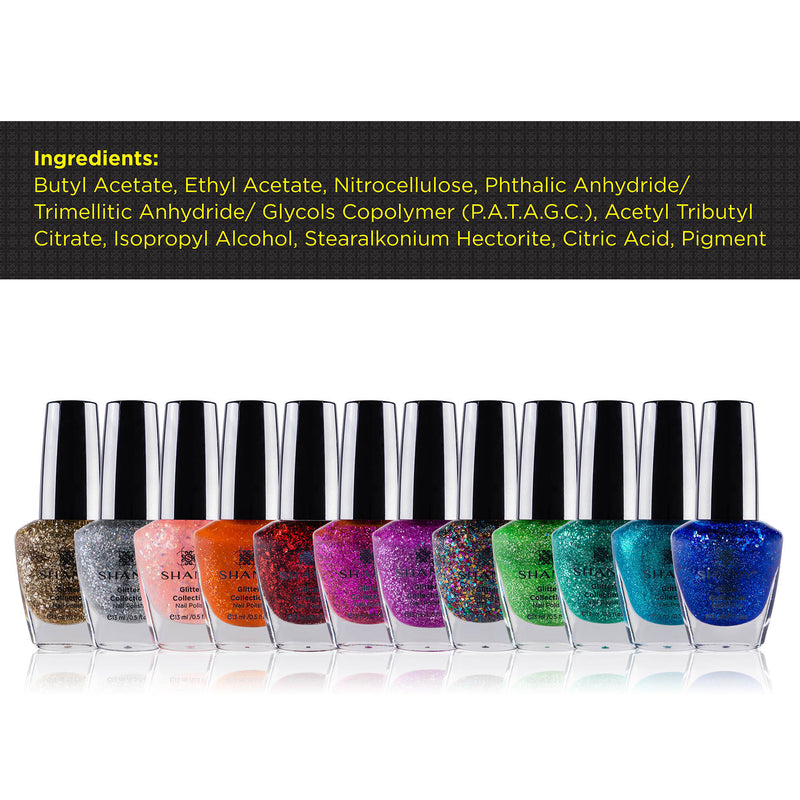 SHANY Nail Polish Set - The Glitter Collection - GLITTER - ITEM# SH-SHNN-4 - Best seller in cosmetics NAIL POLISH category