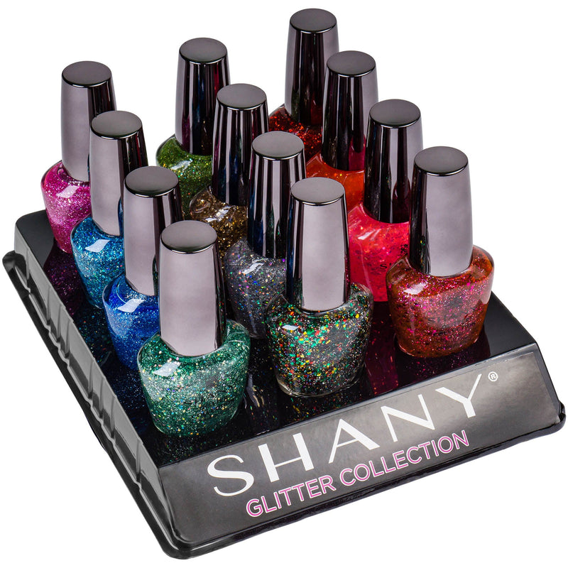 SHANY Nail Polish Set - The Glitter Collection - GLITTER - ITEM# SH-SHNN-4 - Wholesale nail care polish sets woman waterproof,Opi Nailpolish Long lasting quick dry best lacquer,Essie Varnish Manicure Pedicure kits tools girls,Glittering glossy shimmer favorite cheap expensive,accessory fingernail paints work wedding party top - UPC# 616450438012