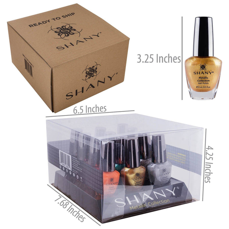 SHANY Nail Polish Set - The Metallic Collection