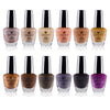 SHANY Cosmetics Nail Polish Set - 12 Nude and Natural Shades in Gorgeous Semi Glossy and Shimmery Finishes - Earth Collection - SHOP EARTH - NAIL POLISH - ITEM# SH-SHNN-6
